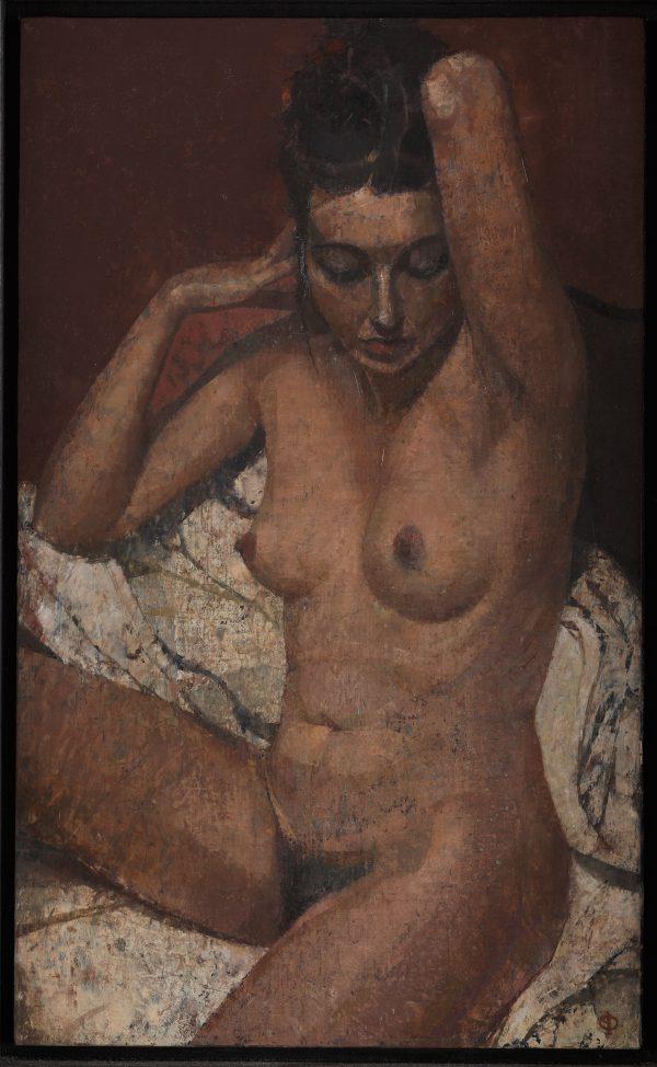 Arabesque Nude, Oil, Linen on Panel, 50 x 30 cm