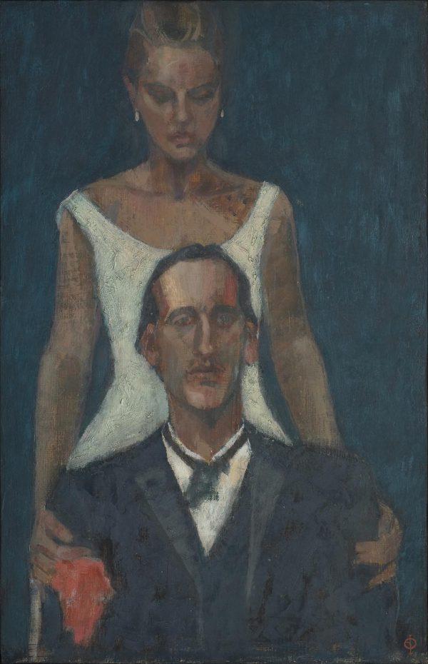 Couple, Oil on Gesso Panel, 38 x 25 cm