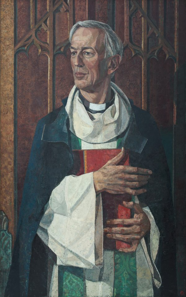 The Very Reverend Christopher Lewis, Dean of Christ Church, Oxford, Oil on Gesso Panel, 122 x 76 cm