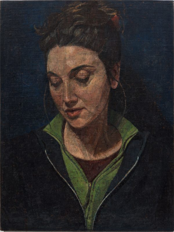 Modern Madonna, Oil, Linen on Panel, 61 x 47 cm