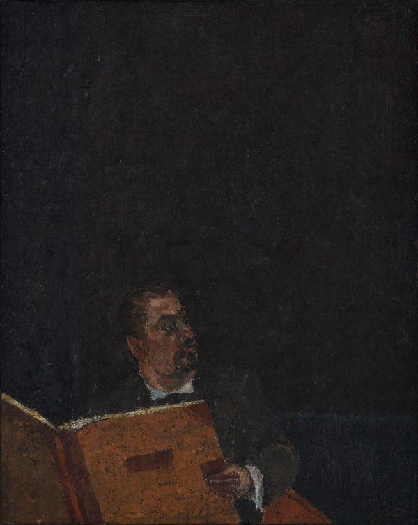 The Reader, Oil, Linen on Panel, 25 x 20 cm