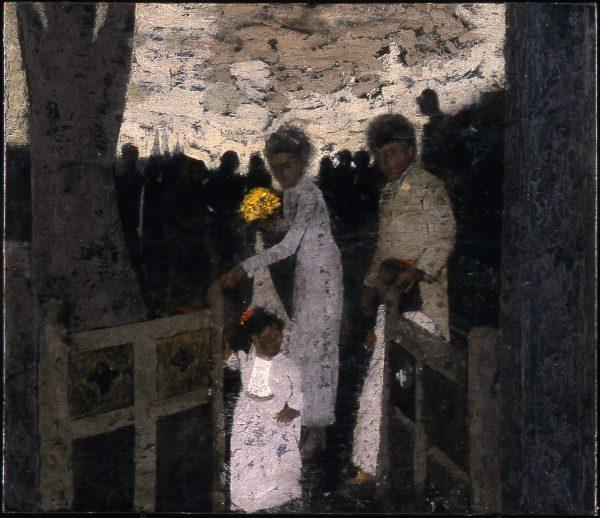 Wedding Procession, Oil on Gesso Panel, 48 x 53 cm