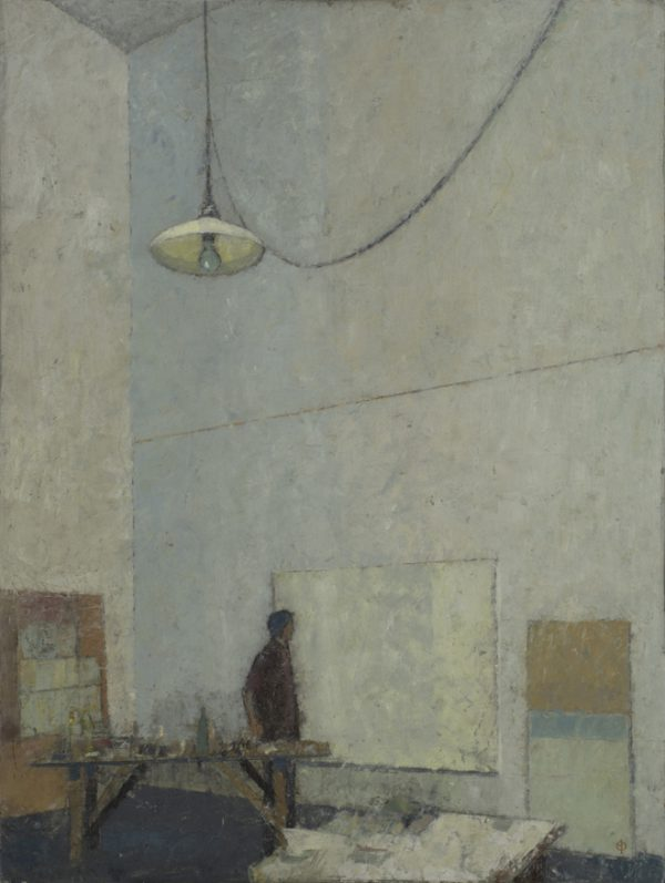 Abstract Painter, Oil on Linen, 91 x 71 cm