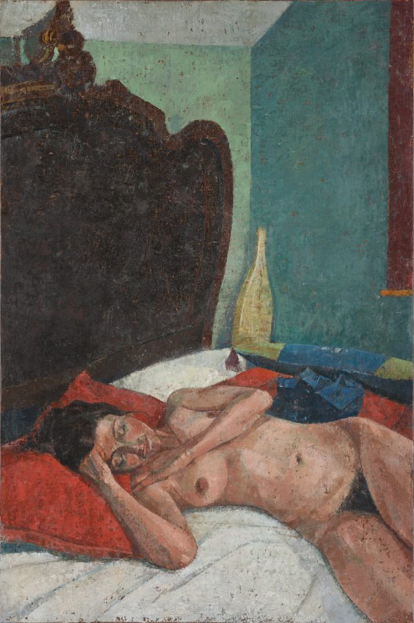 Bedroom Composition, Oil, Linen on Panel, 60 x 40 cm