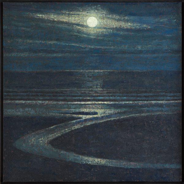 Moonlight, Oil on Linen on Panel, 61 x 61 cm