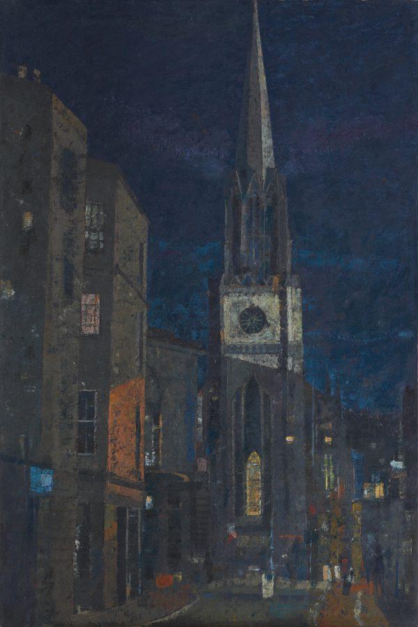 Night Life, Oil on Gesso Panel, 91 x 61 cm