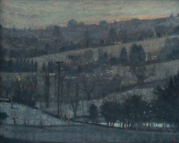 Silver Dawn, Oil on Linen , 41 x 51 cm
