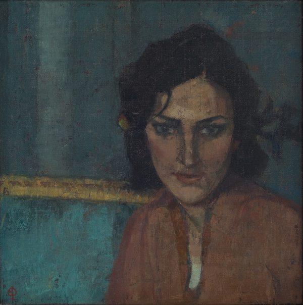 The French Girl, Oil, Linen on Panel, 30 x 30 cm
