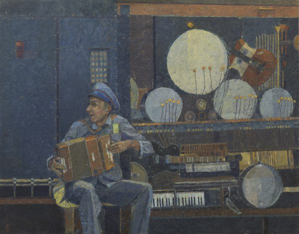 Music Maker, Oil on Gesso Panel, 61 x 76 cm