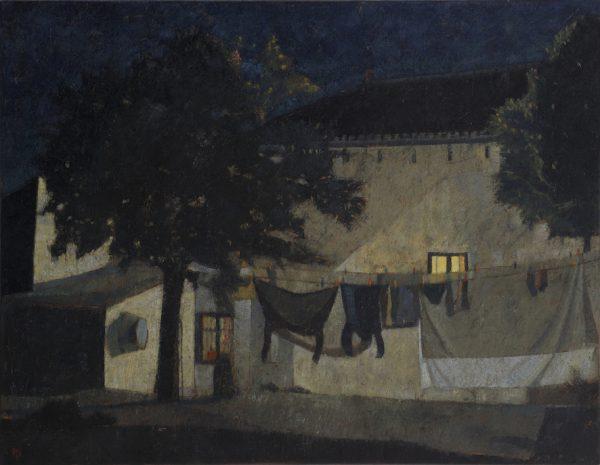 Washing Line, Oil on Canvas, 70 x 90 cm