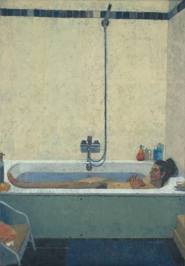 Bathroom, Oil on Linen, 99 x 70 cm