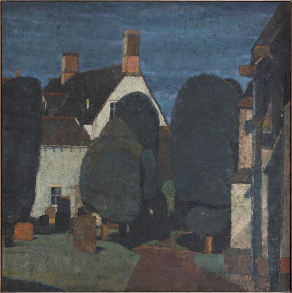 Churchyard, Oil, Linen on Panel, 61 x 61 cm