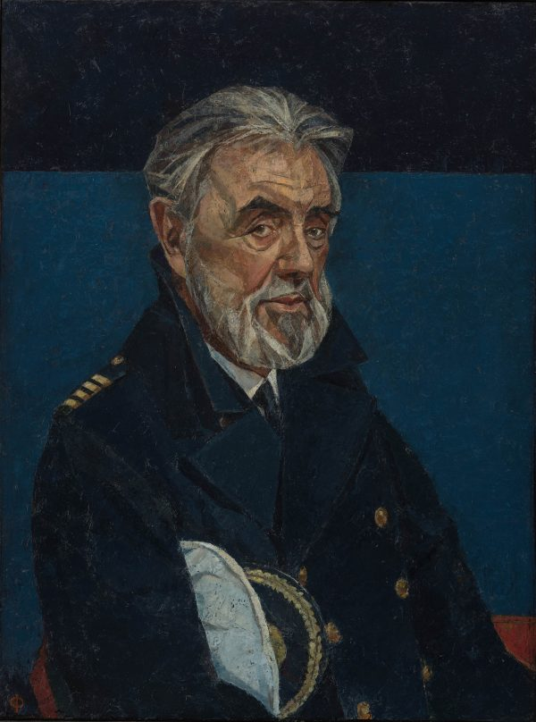 Commodore John Burton-Hall, Oil on Gesso Panel, 61 x 46 cm
