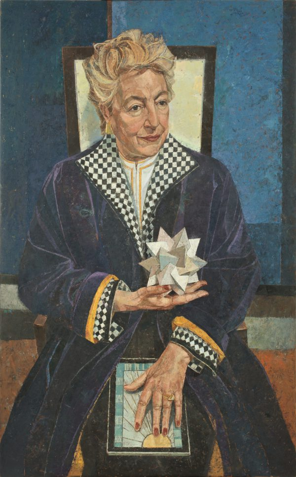Dame Stephanie Shirley, Oil on Gesso Panel, 122 x 76 cm