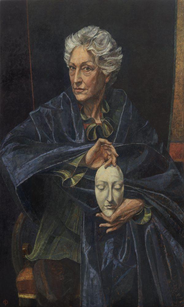 Dame Monica Mason, Oil on Gesso Panel, 127 x 76 cm