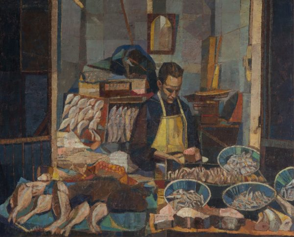 Fishmonger, Oil on Linen, 61 x 76 cm