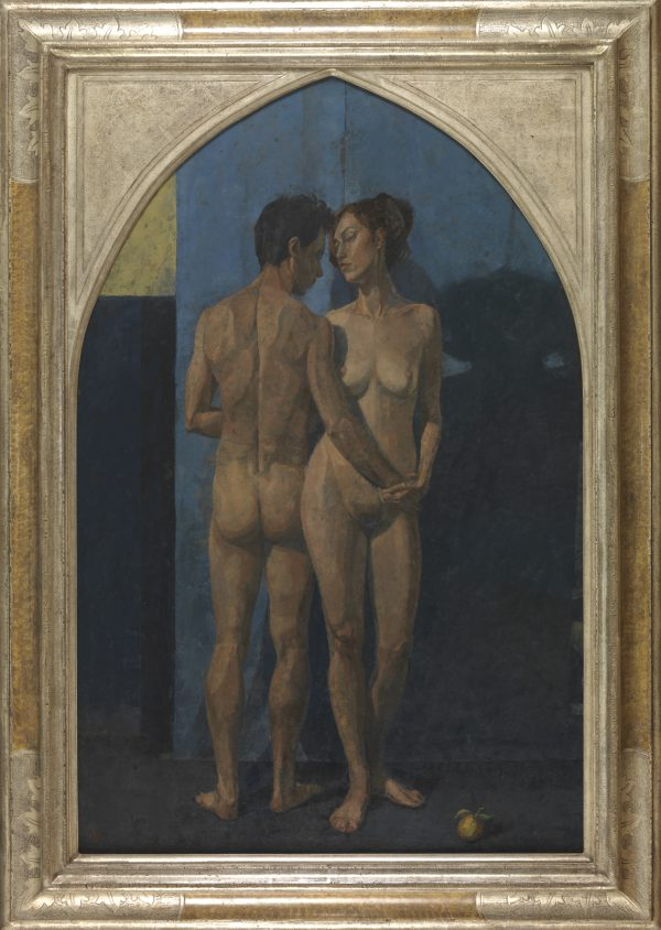 Adam and Eve, Oil on Gesso Panel, 102 x 69 cm