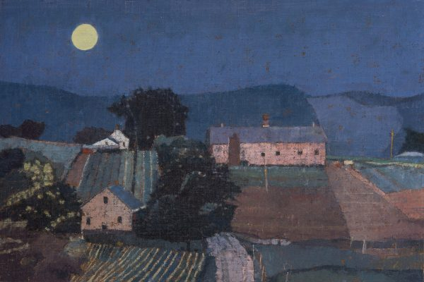 Harvest Moon, Oil on Linen on Panel, 35 x 52 cm