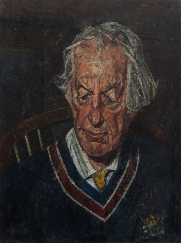 Jasper Rose (Head), Oil on Gesso Panel, 61 x 46 cm