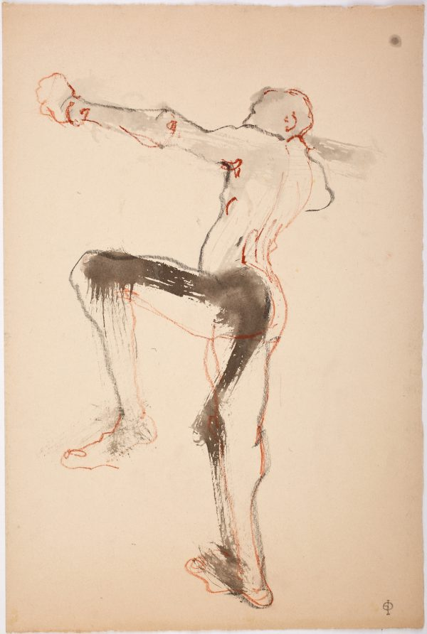 Male Dancer, Ink, Chalk and Charcoal, 42 x 28 cm