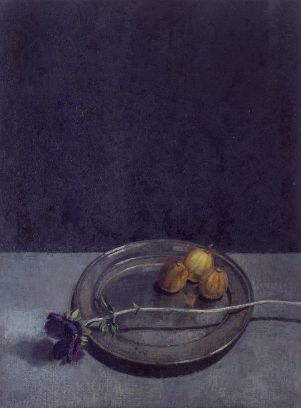 Still Life with Anemone, Oil on Gesso Panel, 58 x 43 cm
