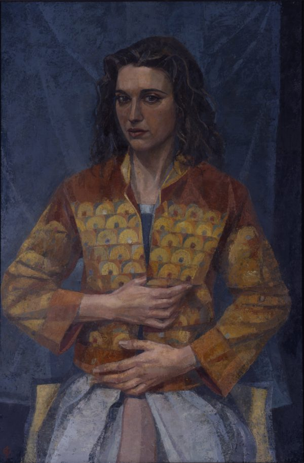Portrait of the Artist's Wife, Oil on Gesso Panel, 91 x 61 cm
