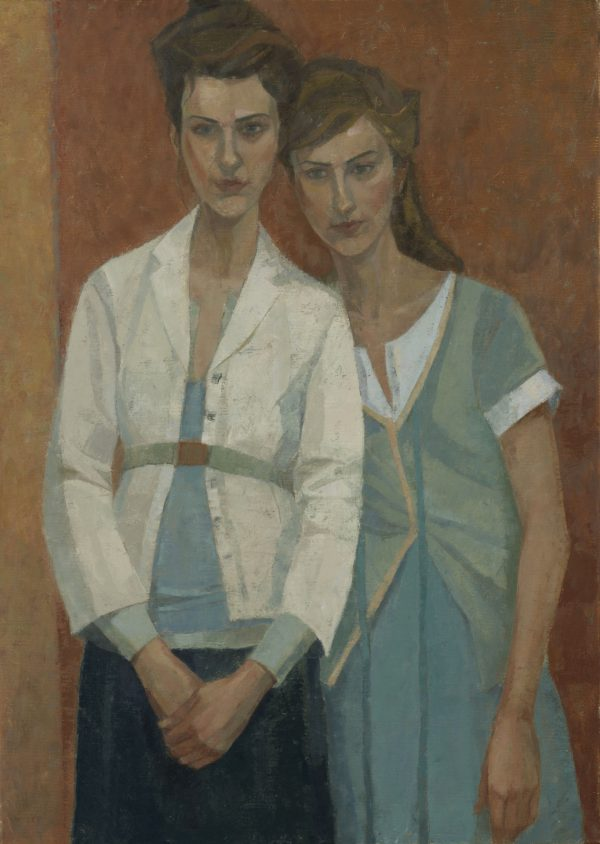 Sisters, Oil on Canvas, 69 x 75 cm