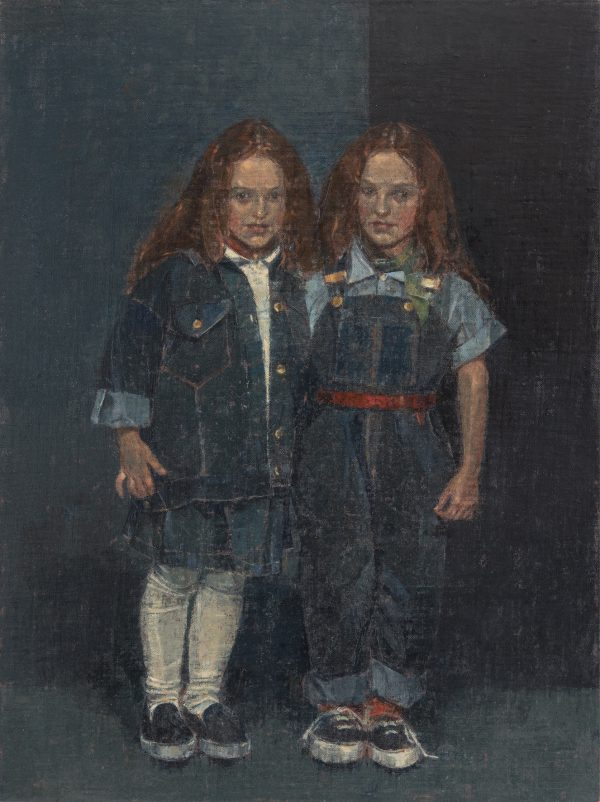 Twins, Oil, Linen on Panel, 61 x 46 cm