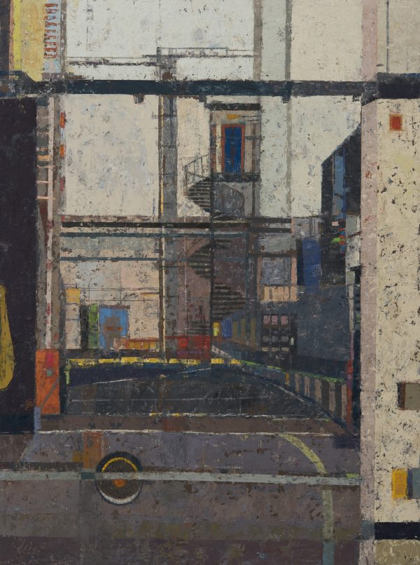 Warehouse Composition, Oil on Gesso Panel, 61 x 46 cm