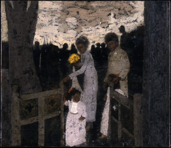 Wedding Procession, Oil on Gesso Panel, 48 x 53 cm