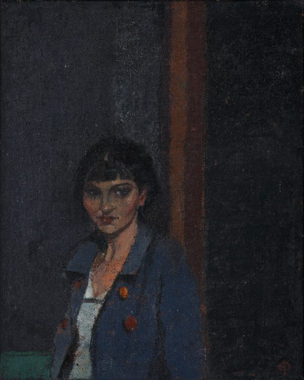 Young Girl, Oil, Linen on Panel, 25 x 20 cm