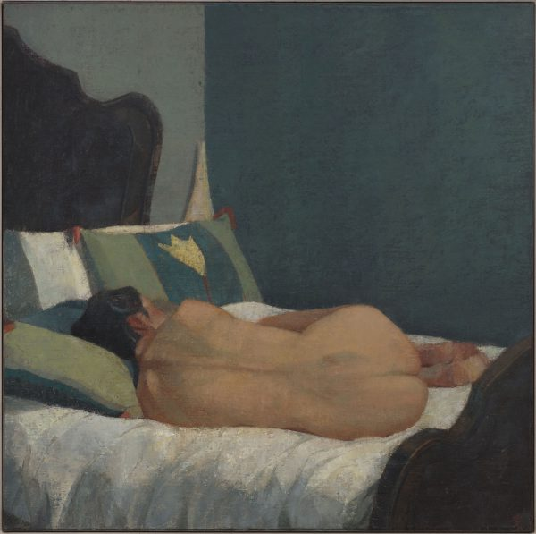 Reclining Nude, Oil on Linen Panel, 61 x 61 cm