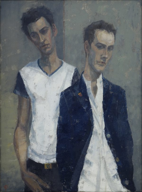 Brothers, Oil on Canvas, 61 x 46 cm