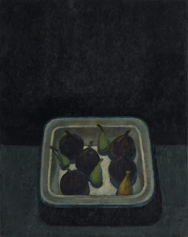 Still Life with Figs, Oil on Gesso Panel, 38 x 30 cm