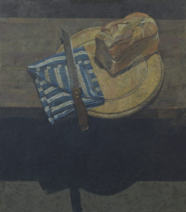 The Bread Knife, Oil on Gesso Panel, 61 x 53 cm