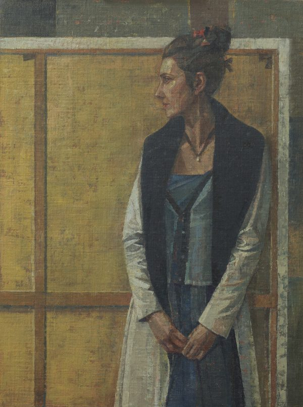 Woman In White, Oil, Linen on Panel, 61 x 46 cm